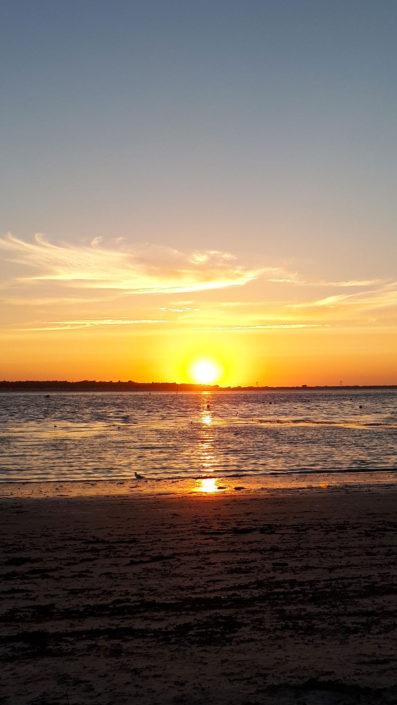 Couché de soleil sur la baie de Quiberon